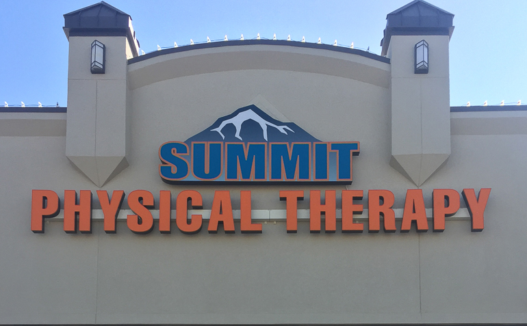 Owasso OK Summit Physical Therapy Clinic Signage